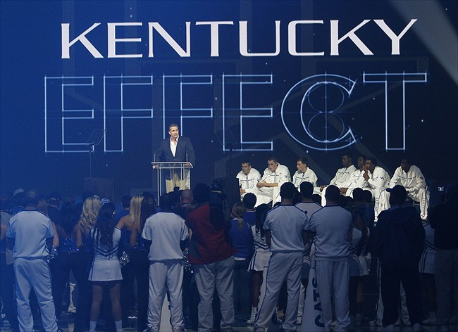 Rupp Arena Rafters Getting Painted Blue: Kentucky Wildcats Morning Headlines: How Far Behind Is