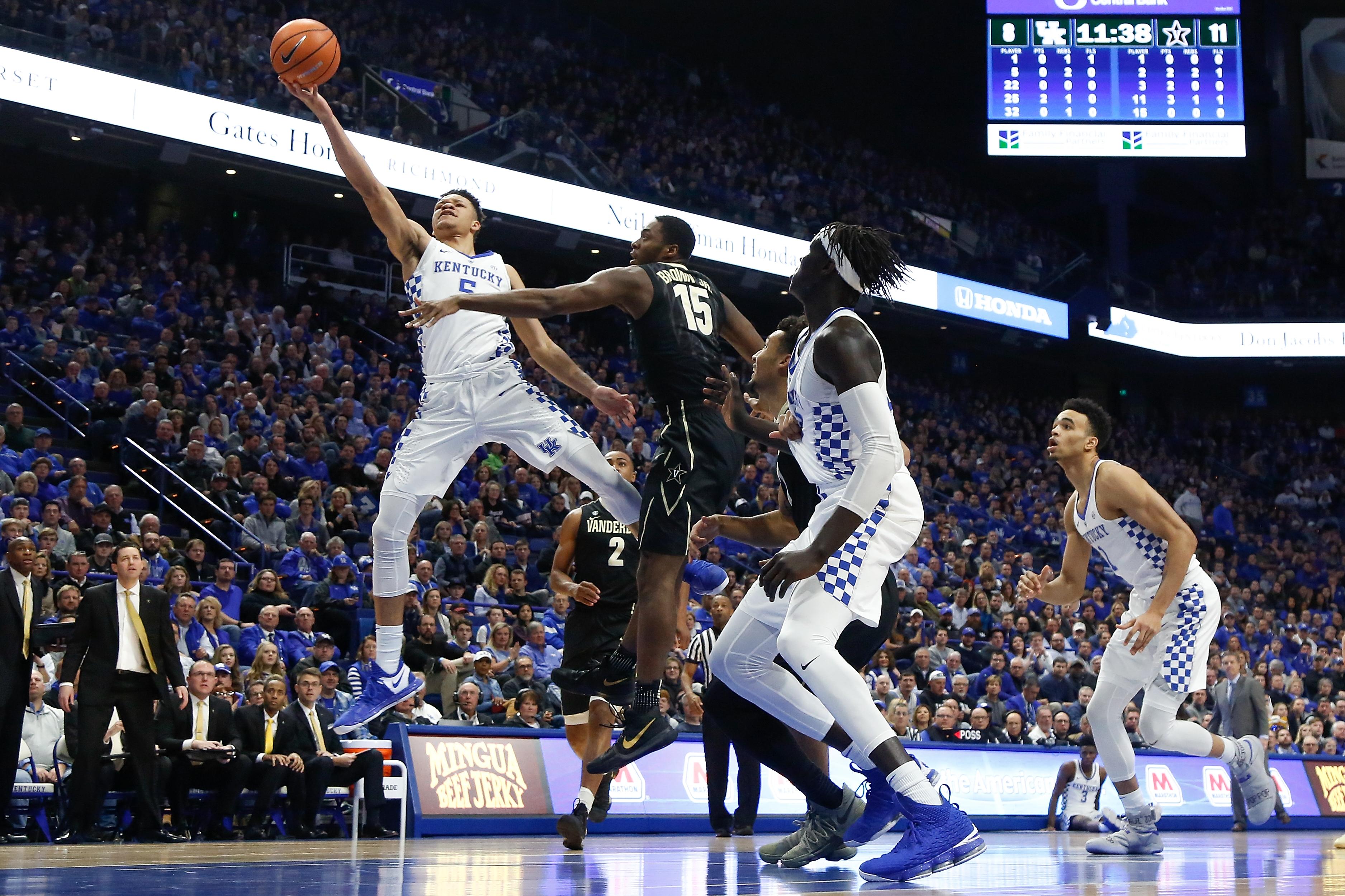 Kentucky's Quade Green drives for game-winning layup vs. Vanderbilt